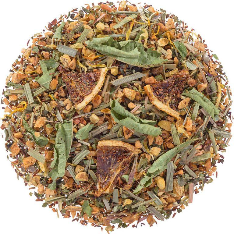 Foto Hennep Relax Thee als illustratie bij een artikel over het gebruik van Miron violet glas voor het bewaren van losse thee