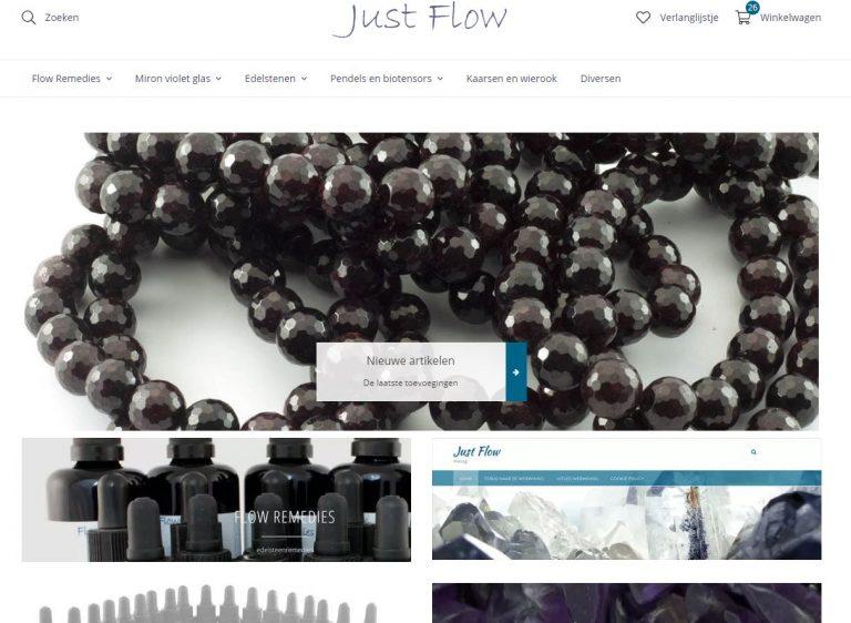 Screenshot nieuwe webwinkel