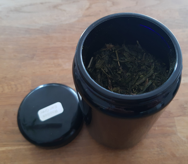 Sencha groene Earl Grey thee in Miron violet glas pot WHA-E-400